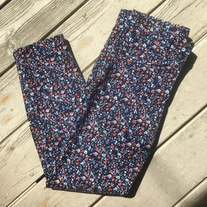 Skinny micro floral cotton ankle pants—GAP